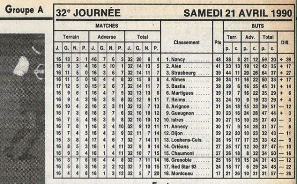 1989 D2A J32 GRENOBLE REIMS 1-2, le 21/04/1990