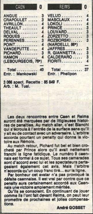 1984 D2A J25 CAEN REIMS 0-0, le 02/03/1985