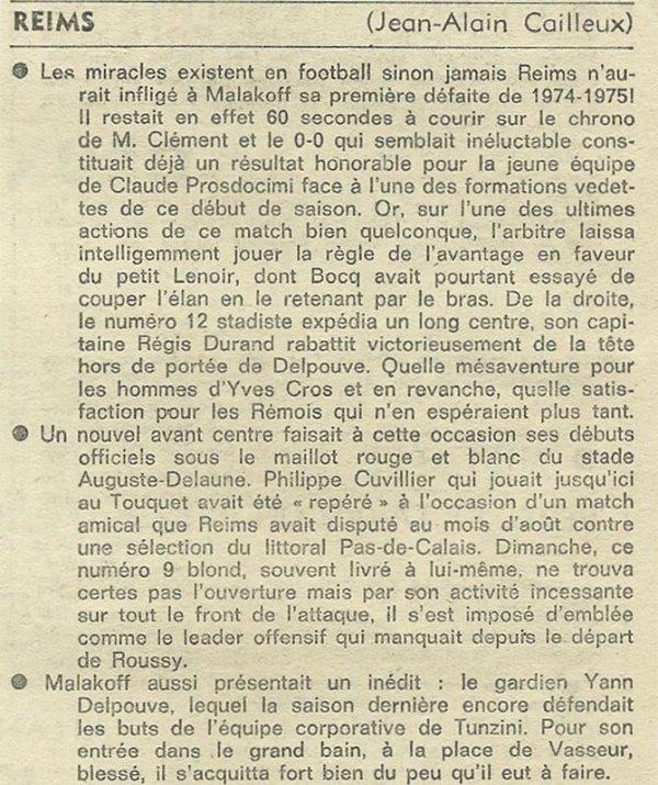 1974 D3 J04 REIMS MALAKOFF 1-0, le 24/09/1974