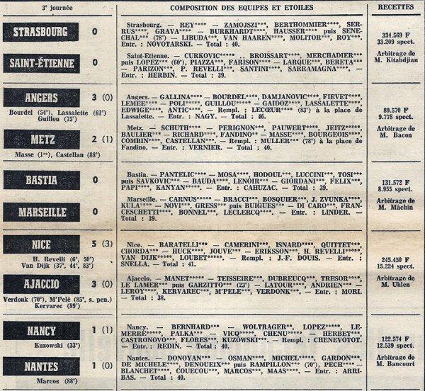 1972 D1 J03 LYON REIMS 1-1, le 23/08/1972