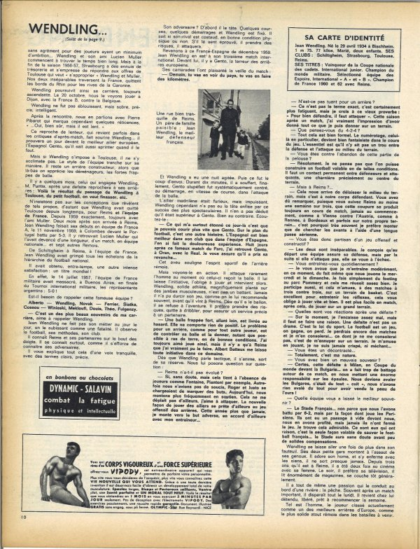1961 D1 REIMS : Portrait de Jean WENDLING , le 31/05/1962