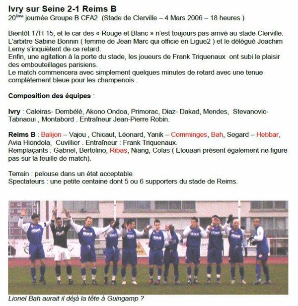 2005 CFA2 J20 IVRY sur SEINE REIMS 2-1, le 04/03/2006