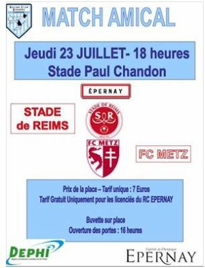 2015 AMICAL REIMS METZ, l'avant match, le 23/07/2015