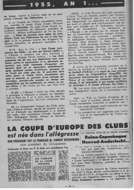 1955 CECC : Naissance d'une compétition, le 01/07/1955