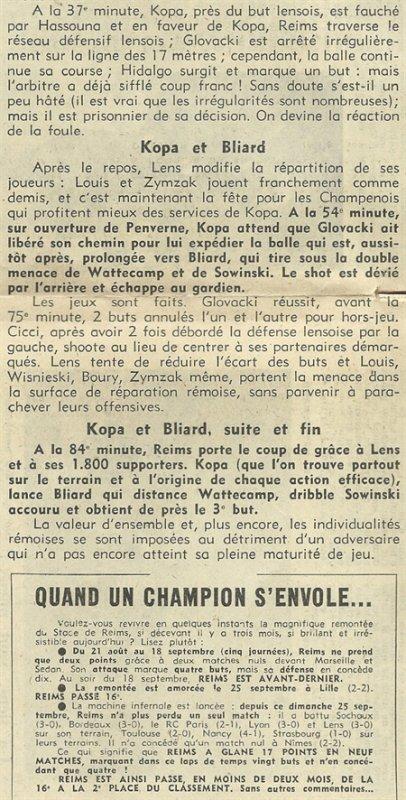 1955 D1 J15 REIMS LENS 3-0, le 27/11/1955