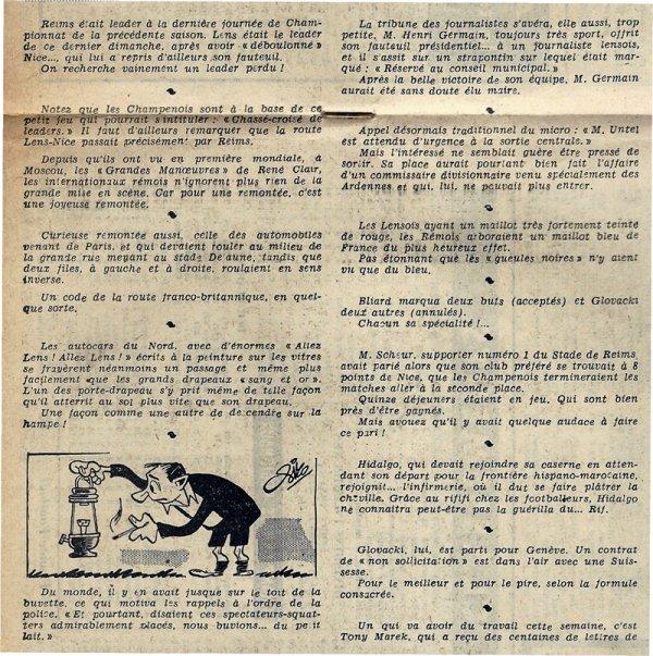 1955 D1 J15 REIMS LENS 3-0,  suite , le 27/11/1955