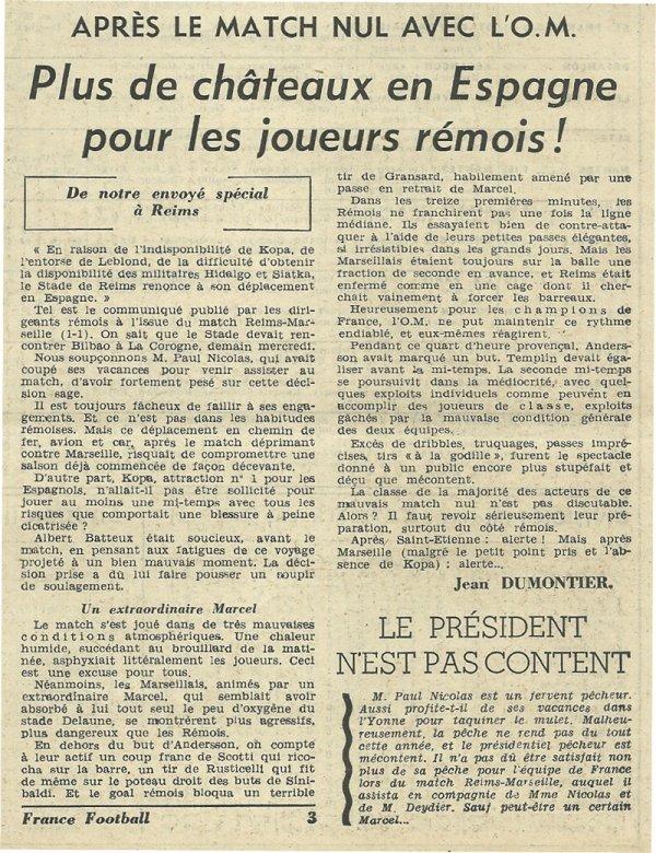 1955 D1 J02 REIMS MARSEILLE 1-1, le 28/08/1955