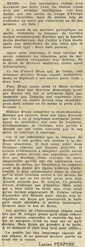 1955 D1 J28 REIMS STRASBOURG 6-2, le 22/04/1956