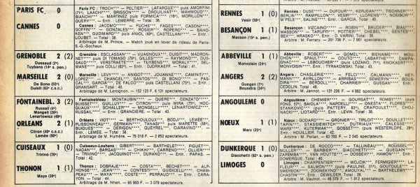 1981 D2B J04 MONTLUCON REIMS 0-1, le 22/08/1981