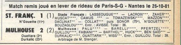1981 D2B J14 REIMS CALAIS 6-0, le 24/10/1981