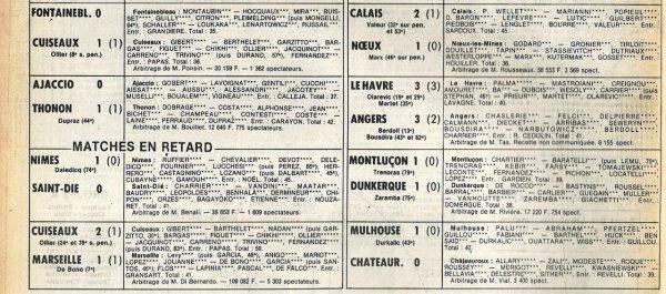 1981 D2B J17 STADE FRANCAIS REIMS 1-0, le 14/11/1981