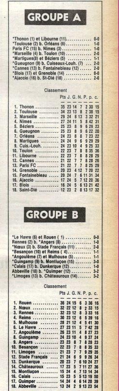 1981 D2B J24 BESANCON REIMS 1-1, le 05/02/1982