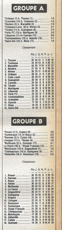 1981 D2B J25 REIMS LIMOGES 0-1, le 20/02/1982