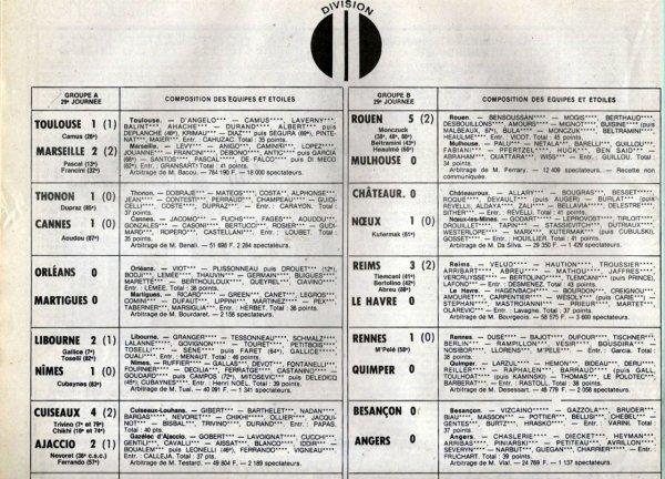 1981 D2B J29 REIMS LE HAVRE 3-0, le 26/03/1982