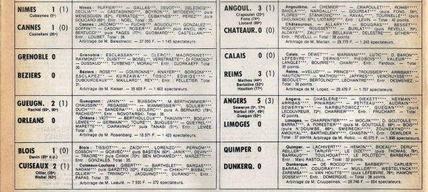 1981 D2B J30 CALAIS REIMS 0-3, le 09/04/1982
