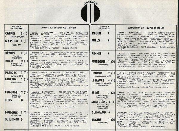 1981 D2B J31 REIMS ANGOULEME 3-3, le 17/04/1982