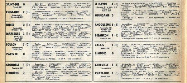 1981 D2B J32 QUIMPER REIMS 1-2, le 24/04/1982