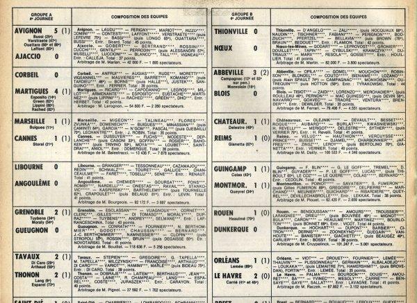 1980 D2B J04 CHATEAUROUX REIMS 1-1 ,le 30/08/1980