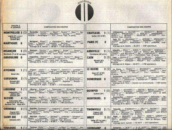1980 D2B J08 ROUEN REIMS 4-3, le 26/09/1980