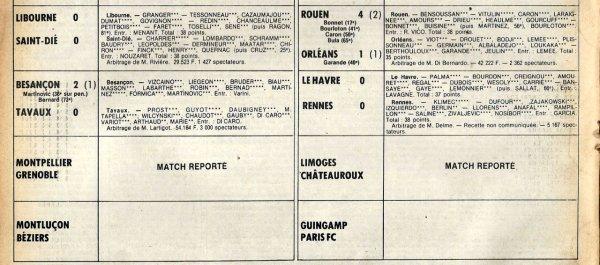 1980 D2B J14 MONTMORILLON REIMS 2-1, le 08/11/1980