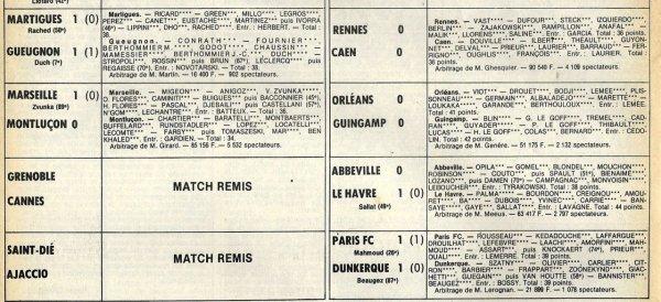 1980 D2B J17 NOEUX LES MINES REIMS 3-0, le 28/11/1980
