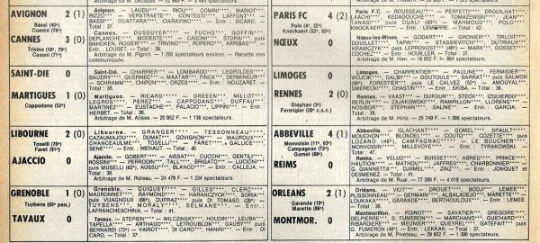 1980 D2B J23 ABBEVILLE REIMS 4-0, le 07/02/1981