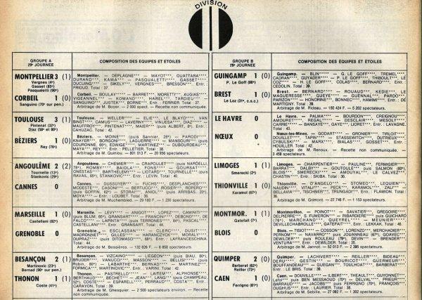 1980 D2B J29 DUNKERQUE REIMS 1-1, le 26/04/1981