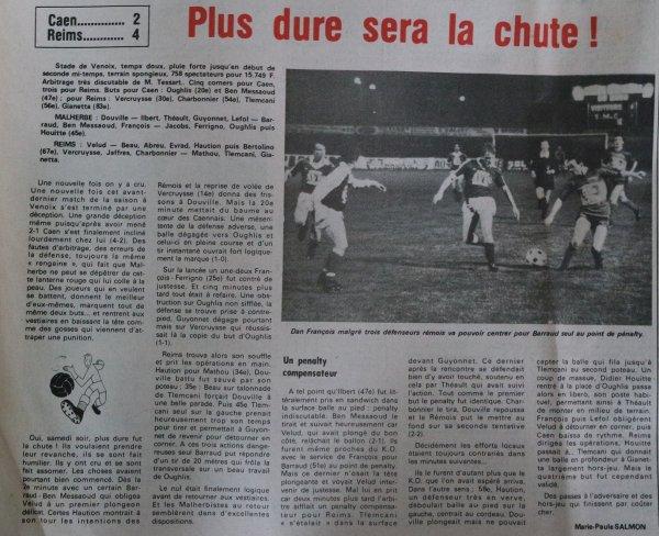 1980 D2B J32 CAEN REIMS 2-4, le 09/05/1981