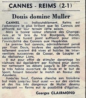 1968 D2 J38 CANNES REIMS 2-1, le 17/05/1969