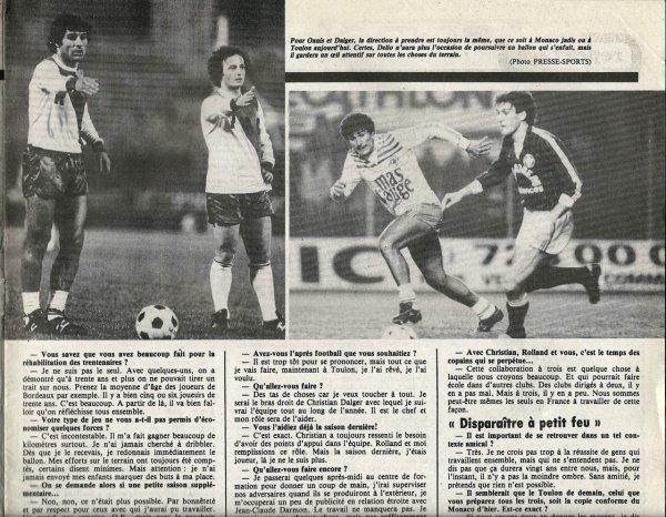 1984 Ex-rémois : Clac de fin pour DELIO ONNIS, le 11/06/1985