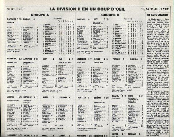 1982 D2B J03 BESANCON REIMS 1-4, le 14/08/1982