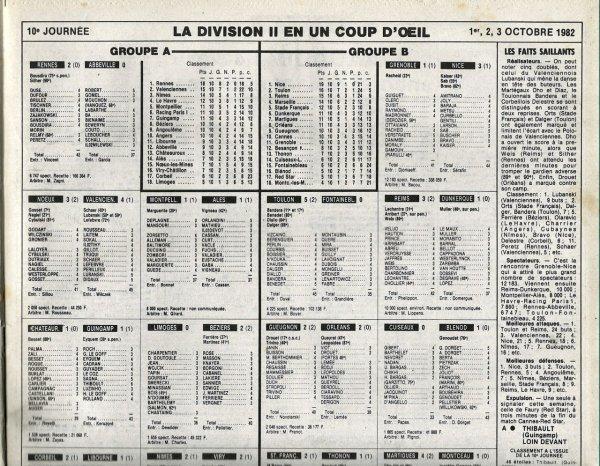 1982 D2B J10 REIMS DUNKERQUE 3-1, le 01/10/1982