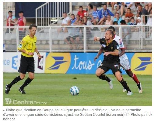 2015 Ex-rémois : COURTET  ouvre son compteur avec Auxerre, le 13/08/2015