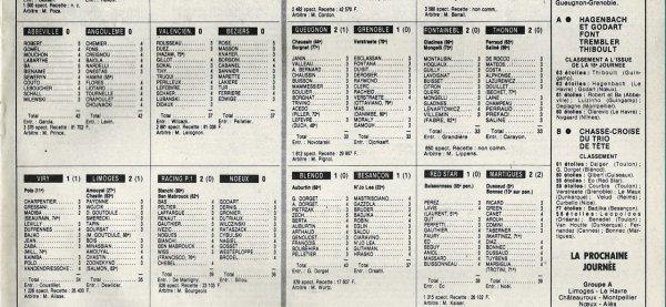 1982 D2B J15 LOUHANS CUISEAUX REIMS 4-2, le 06/11/1982