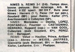 1982 D2 Barrages 1/2 Finale Aller NÎMES REIMS 3-1, le 28/05/1983