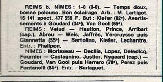 1982 D2 Barrages 1/2 Finale Retour REIMS  NÎMES 1-0, le 03/06/1983