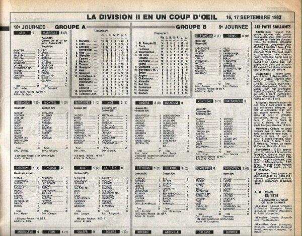 1983 D2B J09 STADE FRANCAIS REIMS 2-0, le 17/09/1983