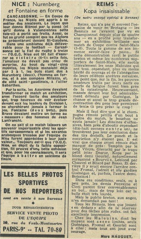1955 CDF32 REIMS SAINT MALO 5-0, le 08/01/1956