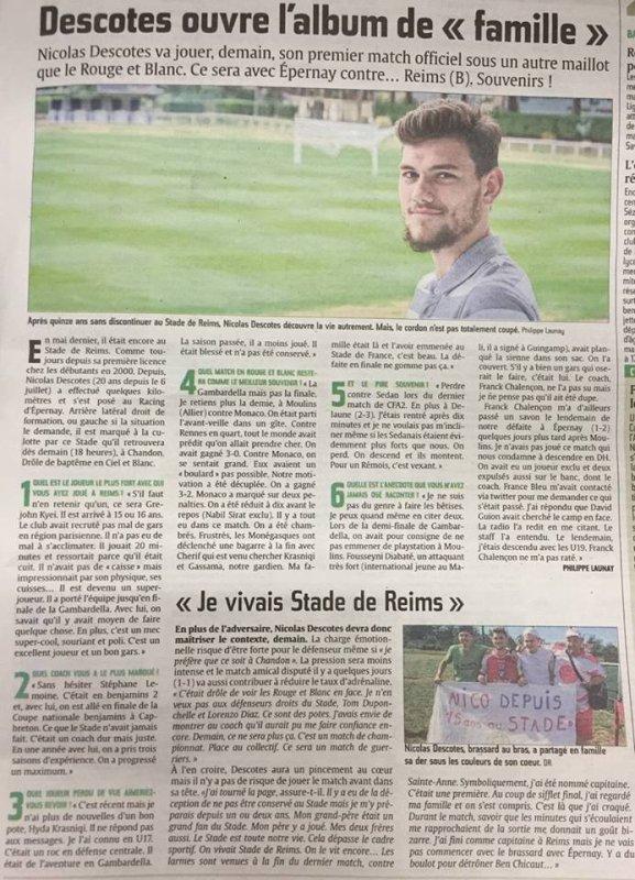2015 CFA2 J01 EPERNAY REIMS, l' avant match, le 22/08/2015