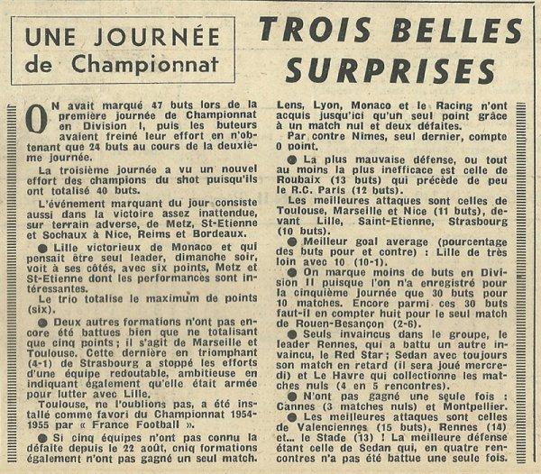 1954 D1 J03 REIMS SAINT-ETIENNE 2-4, le 05/09/1954