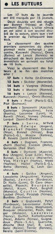 1971 D1 J19 REIMS LILLE 2-0, le 19/12/1971