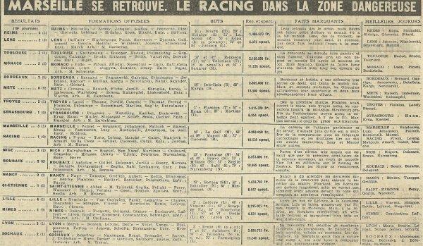 1954 D1 J19 REIMS LENS 4-2, le 19/12/1954