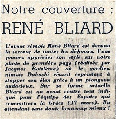 1954 D1 J28 REIMS NÎMES 4-1, le 27/02/1955