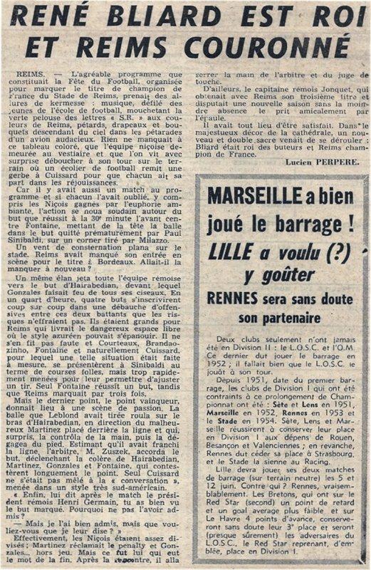 1954 D1 J34 REIMS NICE 3-2, le 22/05/1955