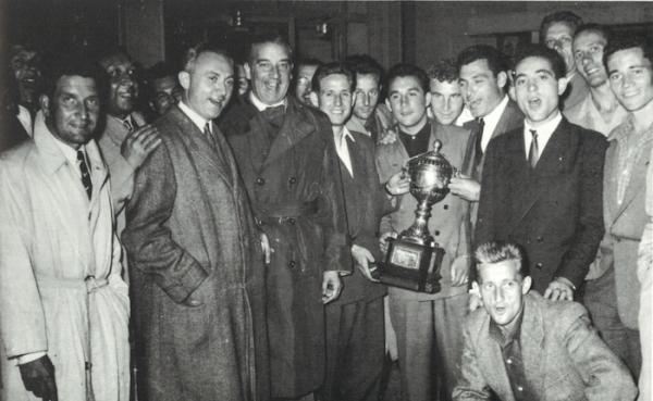1952 COUPE LATINE , finale : REIMS AC MILAN 3-0, le 07/06/1953