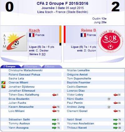 2015 CFA2 J03 ILLZACH MODENHEIM REIMS 0-2, le 05/09/2015