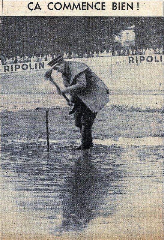 1954 D2 J01 SEDAN SETE, match remis , le 15/08/1954