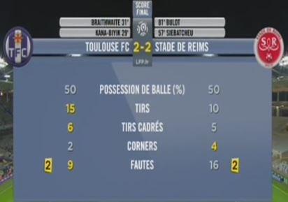 2015 Ligue 1 J05 TOULOUSE REIMS 2-2, le live, le 12/09/2015