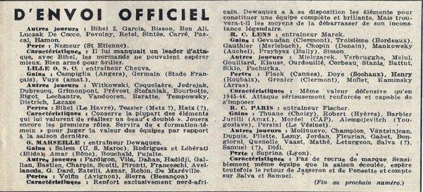 1946 D1 J00  tous les clubs, le 01/08/1946