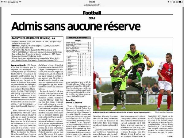 2015 CFA2 J05 PAGNY sur Moselle REIMS 2-2 , le 04/10/2015